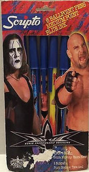 (TAS031667) - WCW WWE WWF Wrestling Scripto BallPoint Pens - Sting & Goldberg, , Pens, Wrestling, The Angry Spider Vintage Toys & Collectibles Store