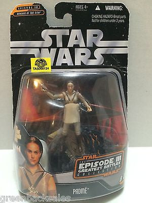 (TAS008124) - Hasbro Star Wars Episode 3 Greatest Battles Action Figure - Padme, , Action Figure, Star Wars, The Angry Spider Vintage Toys & Collectibles Store