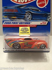 (TAS010387) - 2000 Mattel Hot Wheels Die Cast Replica - '41 Willys, , Trucks & Cars, Hot Wheels, The Angry Spider Vintage Toys & Collectibles Store  - 3