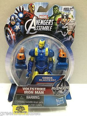 (TAS009422) - Marvel Avengers Assemble - Voltstrike Iron Man Shock Blasters, , Action Figure, Marvel, The Angry Spider Vintage Toys & Collectibles Store