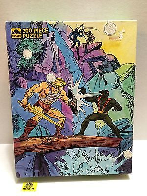(TAS005194) - Golden He-Man MOTU 200 Piece Puzzle - He-Man Battling Kobra Khan, , Puzzle, MOTU, The Angry Spider Vintage Toys & Collectibles Store