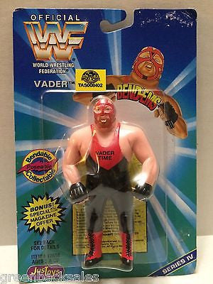 (TAS008402) - WWF WWE WCW nWo Wrestling JusToys Bend-Ems Action Figure - Vader, , Action Figure, Wrestling, The Angry Spider Vintage Toys & Collectibles Store