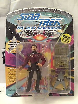 (TAS001051) - Playmates Star Trek The Next Generation - Commander William Riker, , Action Figure, Star Trek, The Angry Spider Vintage Toys & Collectibles Store