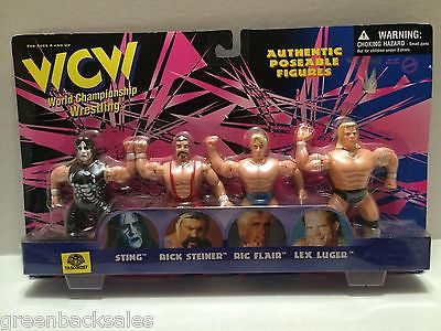 (TAS008287) - OSFT WCW Wrestling Authentic Figures Sting Steiner Flair Luger, , Action Figure, Wrestling, The Angry Spider Vintage Toys & Collectibles Store