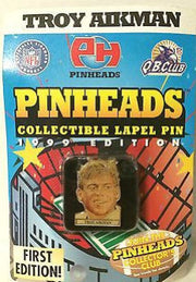(TAS031474) - Pinheads Collectible Pin - First Edition Troy Aikman Dallas Cowboy, , Pins, Wrestling, The Angry Spider Vintage Toys & Collectibles Store