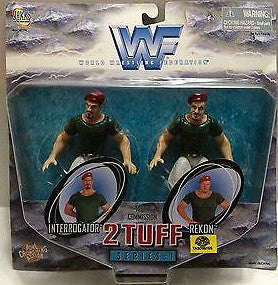 (TAS005195) - WWE WWF WCW Wrestling Jakks 2 Tuff Series:1 - Interrogator & Rekon, , Action Figure, Wrestling, The Angry Spider Vintage Toys & Collectibles Store