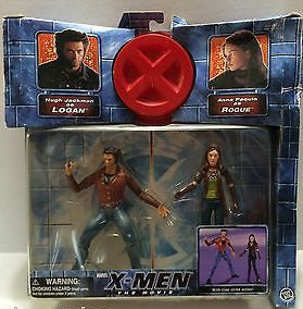 (TAS010324) - 2000 Marvel X-Men The Movie Action Figure Set - Logan & Rogue, , Action Figure, X-Men, The Angry Spider Vintage Toys & Collectibles Store  - 1