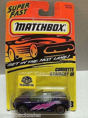(TAS009155) - Matchbox Die-Cast Cars - Corvette Stingray III, , Cars, Matchbox, The Angry Spider Vintage Toys & Collectibles Store