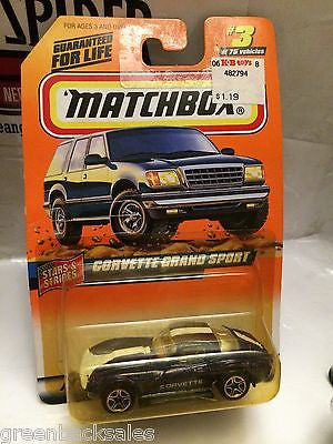(TAS031539) - Matchbox Toy Car - Corvette Grand Sport, , Cars, Matchbox, The Angry Spider Vintage Toys & Collectibles Store