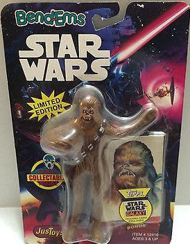 (TAS000509) - Star Wars Bend-Ems JusToys - Chewbacca, , Action Figure, Star Wars, The Angry Spider Vintage Toys & Collectibles Store
