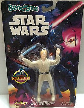 (TAS000493) - Star Wars Bend-Ems JusToys - Luke Skywalker, , Action Figure, Star Wars, The Angry Spider Vintage Toys & Collectibles Store
