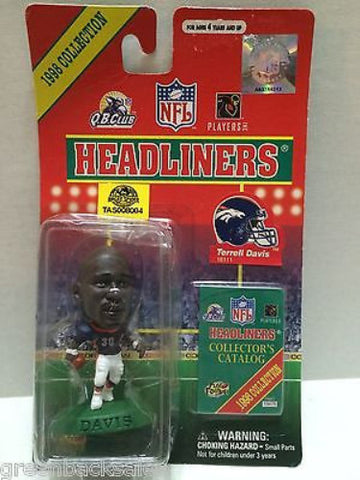 (TAS008004) - MLB NBA NFL NHL Headliners Sports Figure -Terrell Davis, , Action Figure, NFL, The Angry Spider Vintage Toys & Collectibles Store