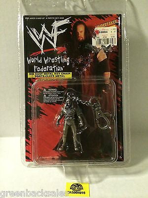 (TAS004916) - 1998 Placo Toys - WWF WWE Wrestling Die-Cast Keychain - Undertaker, , Key Chain, Wrestling, The Angry Spider Vintage Toys & Collectibles Store
