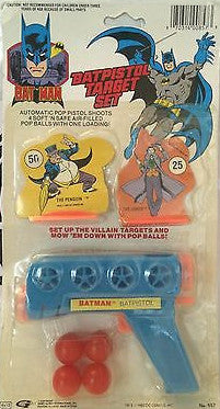 (TAS031395) - Batman Batpistol Target Set, , Other, Batman, The Angry Spider Vintage Toys & Collectibles Store