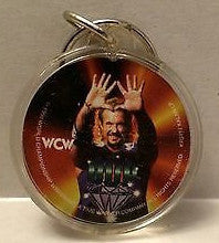 (TAS003373) - WCW WWF WWE Wrestling Circle Keychain - Diamond Dallas Page, , Keychain, Wrestling, The Angry Spider Vintage Toys & Collectibles Store