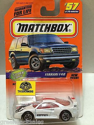 (TAS009698) - Matchbox Cars - Ferrari F40, , Cars, Matchbox, The Angry Spider Vintage Toys & Collectibles Store