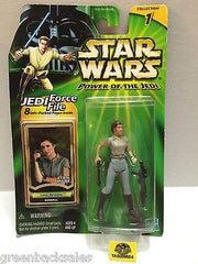 (TAS009554) - Star Wars Power of the Jedi - Leia Organa General, , Action Figure, Star Wars, The Angry Spider Vintage Toys & Collectibles Store