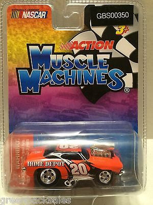 (TAS030751) - Nascar Action Muscle Machines - Home Tony Depot #20, , Cars, Muscle Machines, The Angry Spider Vintage Toys & Collectibles Store