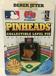 (TAS031464) - MLB - Pinheads Collectible Lapel Pin - Derek Jeter NY Yankees, , Pins, MLB, The Angry Spider Vintage Toys & Collectibles Store
