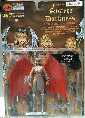 (TAS031585) - Sisters of Darkness Letha Action Figure - Platinum Letha, , Action Figure, n/a, The Angry Spider Vintage Toys & Collectibles Store