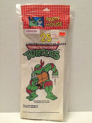 (TAS030501) - 1990 Party House Teenage Mutant Ninja Turtles Lunch Bags - Raphael, , Other, TMNT, The Angry Spider Vintage Toys & Collectibles Store