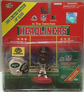 (TAS006222) - 1998 NFL Headliners In The Trenches Figure - NY Jets K. Johnson, , Action Figure, NFL, The Angry Spider Vintage Toys & Collectibles Store