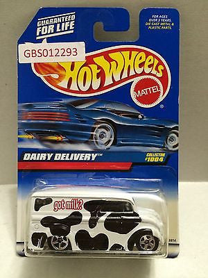(TAS030849) - Mattel Hot Wheels Car - Dairy Delivery, , Cars, Hot Wheels, The Angry Spider Vintage Toys & Collectibles Store