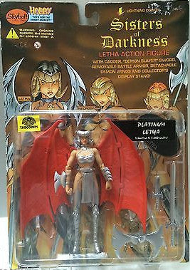 (TAS006921) - Sisters of Darkness Letha Action Figure - Platinum Letha, , Action Figure, n/a, The Angry Spider Vintage Toys & Collectibles Store