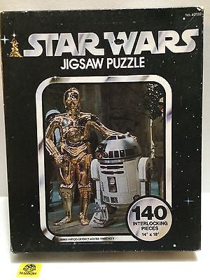 (TAS005294) - 140 Interlocking Piece Star Wars Jigsaw Puzzle - C-3P0 & R2D2, , Puzzle, Star Wars, The Angry Spider Vintage Toys & Collectibles Store