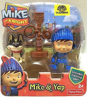 (TAS009550) - Fisher-Price Mike The Knight - Mike & Yap Includes Training Post, , Action Figure, Fisher-Price, The Angry Spider Vintage Toys & Collectibles Store