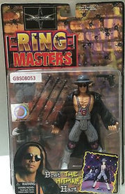 (TAS031294) - WWE WWF WCW Wrestling Ring Masters Figure - Bret 'The Hitman' Hart, , Action Figure, Wrestling, The Angry Spider Vintage Toys & Collectibles Store