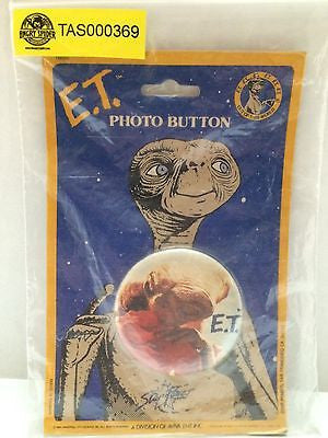 (TAS000369) - E.T. The Extra-Terrestrial Photo Button, , Button, E.T, The Angry Spider Vintage Toys & Collectibles Store