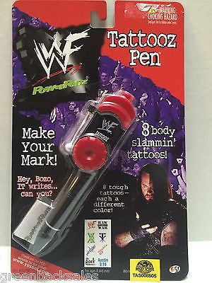 (TAS008505) - PowerPenz WWF WWE Wrestling Tattooz Pen - Undertaker, , Pen, Wrestling, The Angry Spider Vintage Toys & Collectibles Store