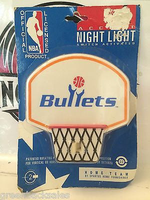 (TAS030506) - Vintage NBA Basketball Night Light - Washington Bullets, , Lights & Lamps, NBA, The Angry Spider Vintage Toys & Collectibles Store