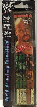 (TAS004178) - WWE WWF WCW Wrestling Pencils - Stone Cold Steve Austin, , pencil, Wrestling, The Angry Spider Vintage Toys & Collectibles Store