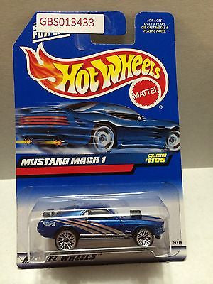 (TAS030937) - Hot Wheels Mustang Mach I - Collector #1105, , Cars, Hot Wheels, The Angry Spider Vintage Toys & Collectibles Store