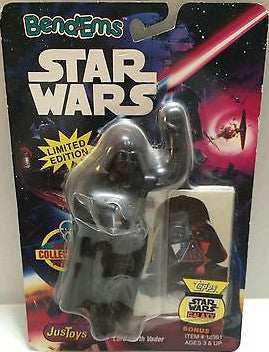(TAS000467) - Star Wars Bend-ems JusToys - Lord Darth Vader, , Action Figure, Star Wars, The Angry Spider Vintage Toys & Collectibles Store