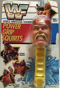(TAS008632) - WWF WCW LJN Wrestling Power Grip Squirts - Hulk Hogan, , Power Grip Squirts, Wrestling, The Angry Spider Vintage Toys & Collectibles Store