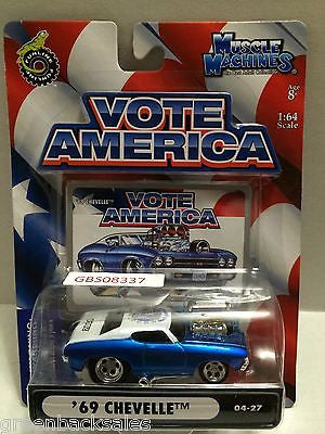 (TAS030813) - Funline Muscle Machines Vote America Die Cast Car - '69 Chevelle, , Cars, Muscle Machines, The Angry Spider Vintage Toys & Collectibles Store