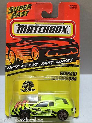 (TAS008891) - Matchbox Cars - Ferrari Testarossa, , Cars, Matchbox, The Angry Spider Vintage Toys & Collectibles Store