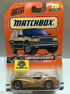 (TAS009120) - Matchbox Die-Cast Cars - Chrysler Atlantic #19, , Cars, Matchbox, The Angry Spider Vintage Toys & Collectibles Store