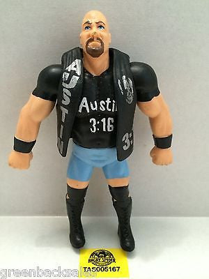 (TAS005167) - WWE WWF WCW Wrestling Bend-Ems Figure - Stone Cold Steve Austin, , Sports, Varies, The Angry Spider Vintage Toys & Collectibles Store