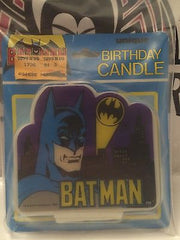 (TAS030495) - 1989 Unique Bat-Man Birthday Candle  - Batman with Logo, , Party, Batman, The Angry Spider Vintage Toys & Collectibles Store