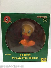 (TAS009255) - Looney Tunes 12 Light Tweety Christmas Tree Topper (used) - Tweety, , Christmas, Looney Tunes, The Angry Spider Vintage Toys & Collectibles Store  - 1