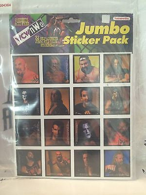 (TAS031394) - WWF WCW nWo Jumbo Sticker Pack, , Stickers, Wrestling, The Angry Spider Vintage Toys & Collectibles Store