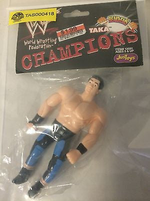 (TAS000418) - WWE WWF WCW JusToys Wrestling Bend-Ems - Taka, , Action Figure, Wrestling, The Angry Spider Vintage Toys & Collectibles Store