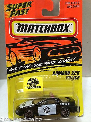 (TAS008896) - Matchbox Cars - Camaro Z28 Police, , Cars, Matchbox, The Angry Spider Vintage Toys & Collectibles Store