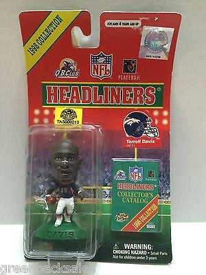 (TAS008213) - MLB NBA NFL NHL Headliners Sports Figure - Terrell Davis, , Action Figure, NFL, The Angry Spider Vintage Toys & Collectibles Store