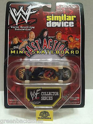 (TAS008554) - WWE WWF WCW Similar Device Fast Action Mini Skateboard - Kane, , Action Figure, Wrestling, The Angry Spider Vintage Toys & Collectibles Store