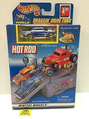 (TAS004156) - Mattel Hot Wheels Draggin' Drive-Thru - Hot Rod Edition, , Trucks & Cars, Hot Wheels, The Angry Spider Vintage Toys & Collectibles Store